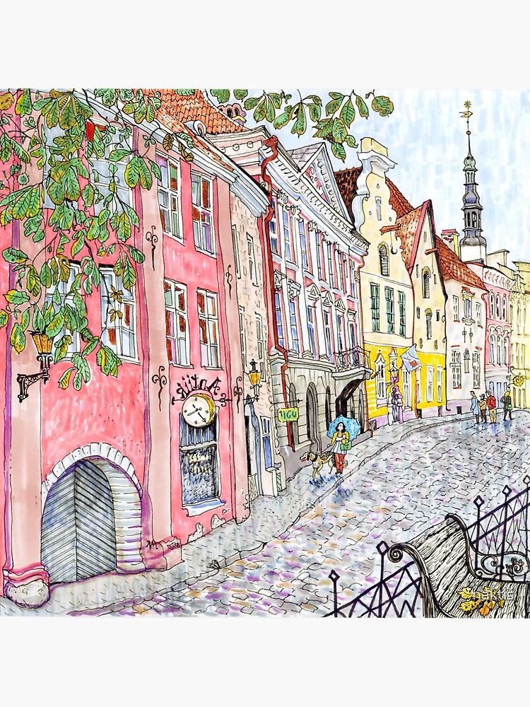 old Tallinn street  by naktis