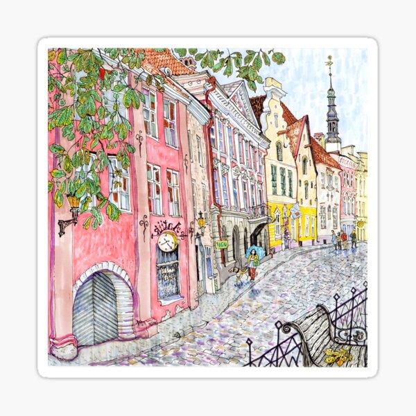 old Tallinn street  Sticker