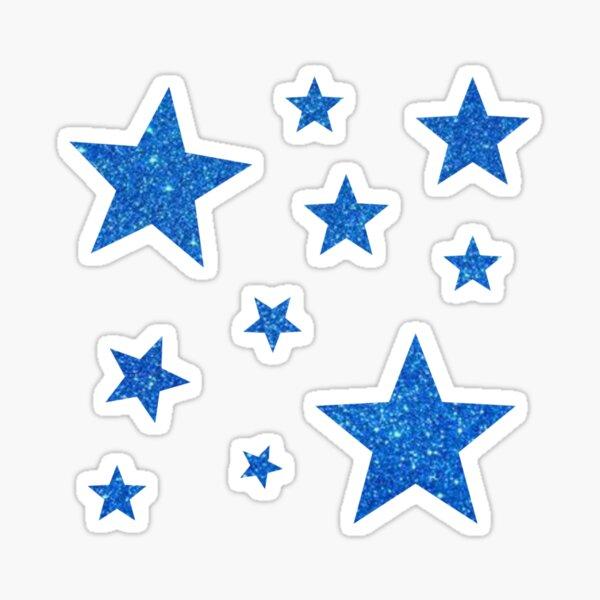 Royal Blue Glitter Stars Sticker