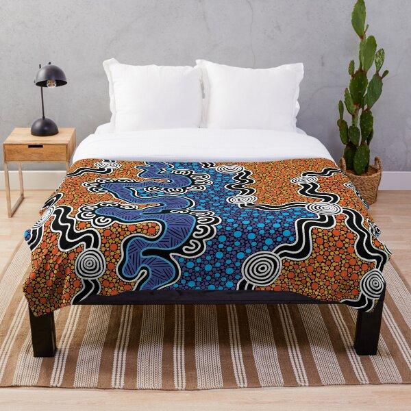 Authentic Aboriginal Art - Throw Blanket