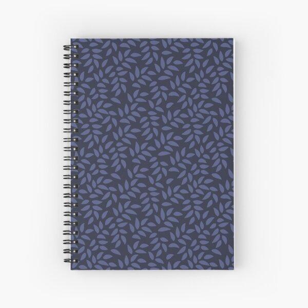 Indigo Leaves Spiral Notebook