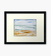 BEACH HUT Framed Print