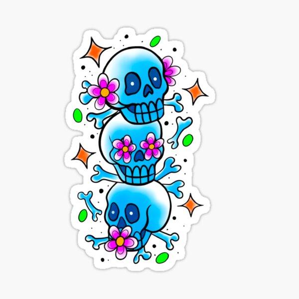 Blue Skulls - Hear No Evil See No Evil Speak No Evil Sticker