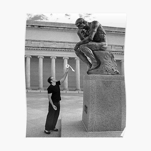Robin Williams Giving 'The Thinker' Poster
