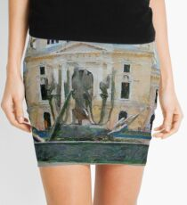 A digital painting of TheTheodor Costescu Cultural Palace in Romania Mini Skirt