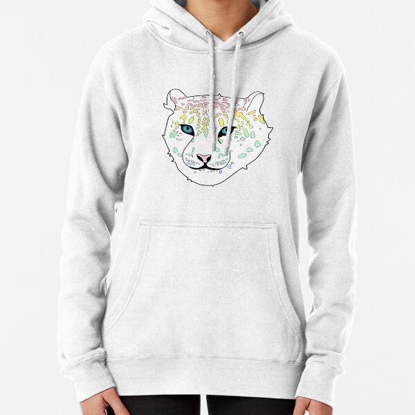 Rainbow Snow Leopard Pullover Hoodie