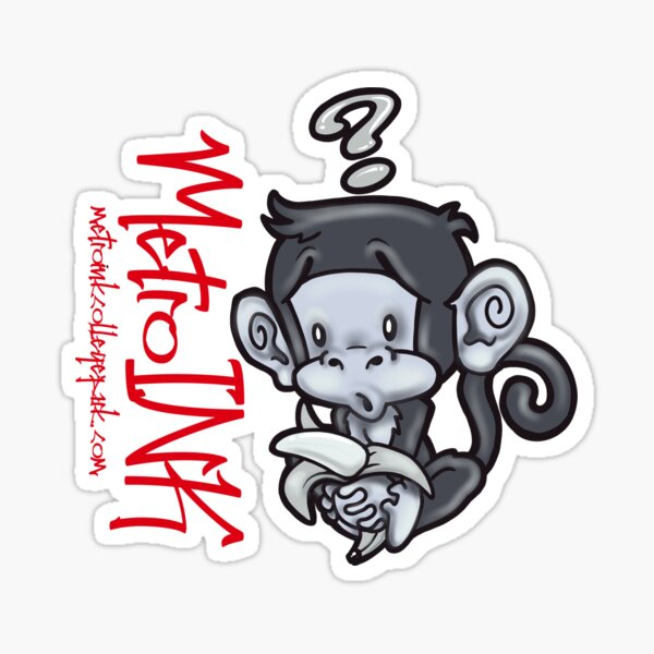 MetroINK Cheeky Monkey Sticker