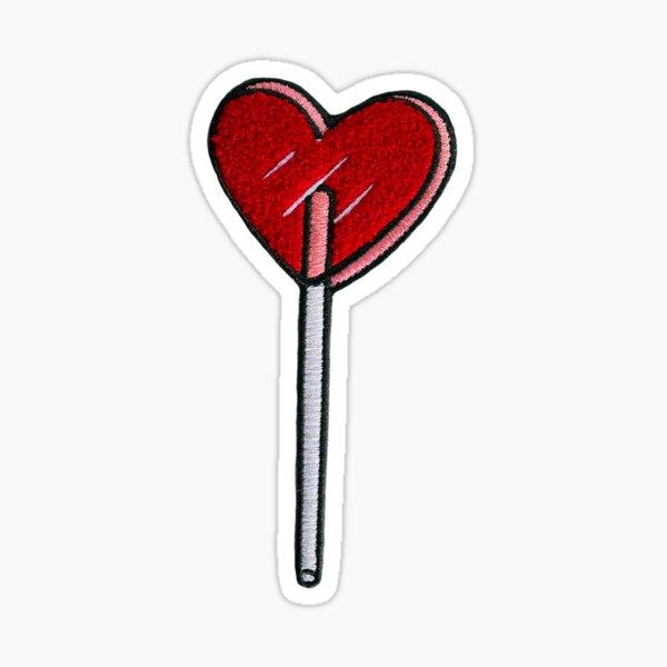 Heart Lollipop Patch Sticker