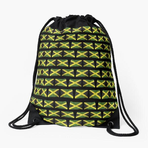 Jamaican Flags Drawstring Bag