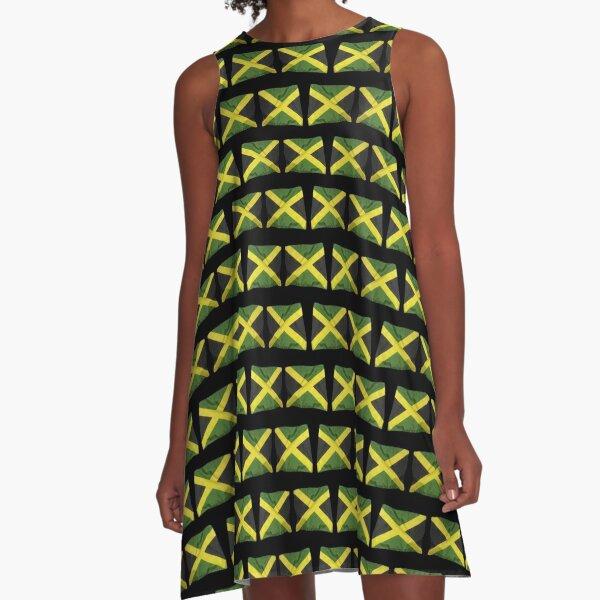 Jamaican Flags A-Line Dress