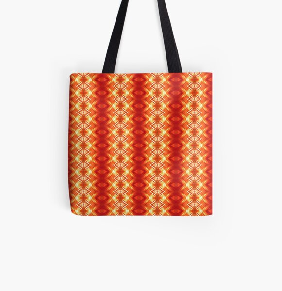 Orange Flower Diamond  All Over Print Tote Bag