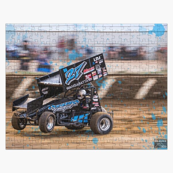 Wheels up, arms up, let's go sprint car racing! Jigsaw Puzzle