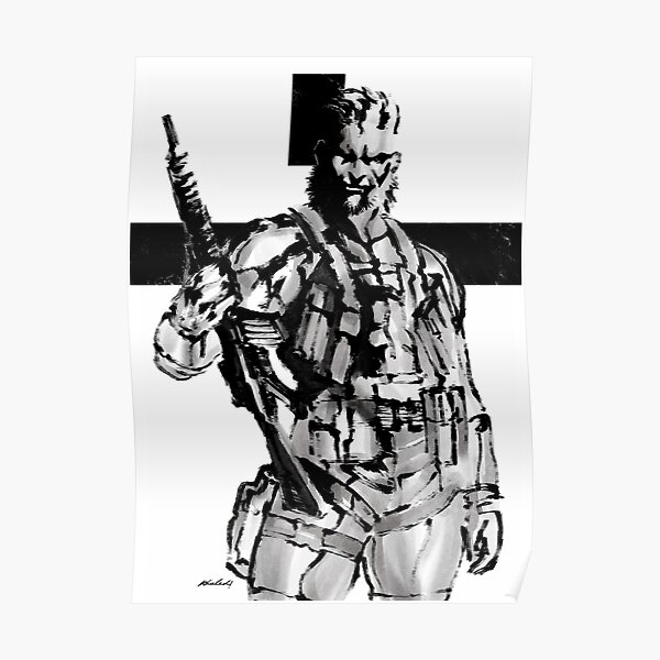 Solid Snake (MGS2) Poster