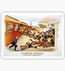 A limited express - five seconds for refreshments - 1884 Sticker