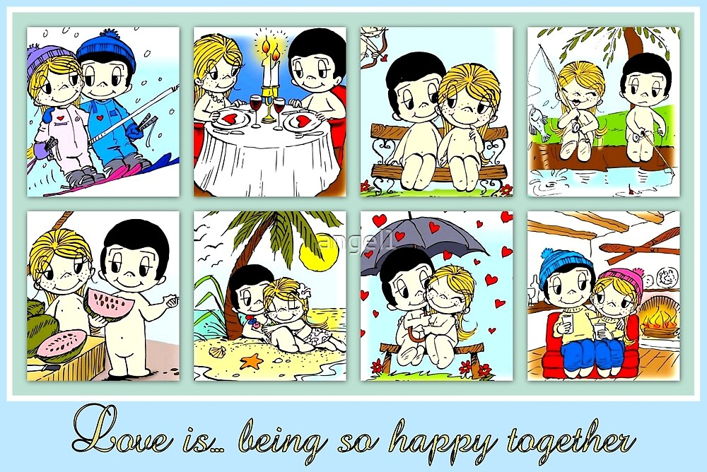 Love is...being so happy together by ©The Creative  Minds
