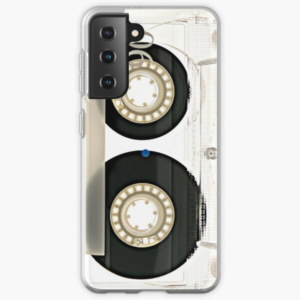 White Vintage Cassette Retro Camera Phone Case  Samsung Galaxy Soft Case