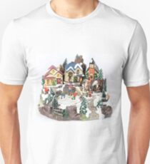 old town winter scene T-Shirt