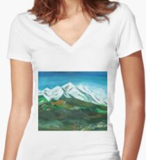 Himalaya Women's Fitted V-Neck T-Shirt