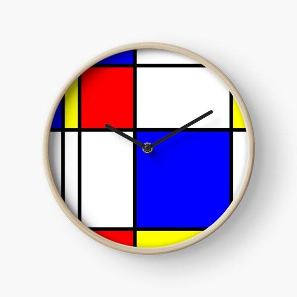 Piet Mondrian-Inspired 1 Clock