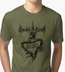 """Einheitsfront Sigil: """"Extremist Occultist"""" & Logo (BLACK) Tri-blend T-Shirt"""