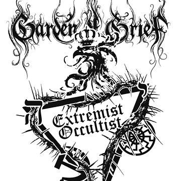 """Einheitsfront Sigil: """"Extremist Occultist"""" & Logo (GREY) by gardenofgrief"""