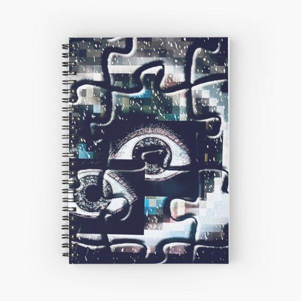 Puzzles eyes pixels Spiral Notebook