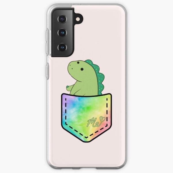Moriah Elizabeth pickle the dinosaur inside pocket cute rainbow Samsung Galaxy Soft Case