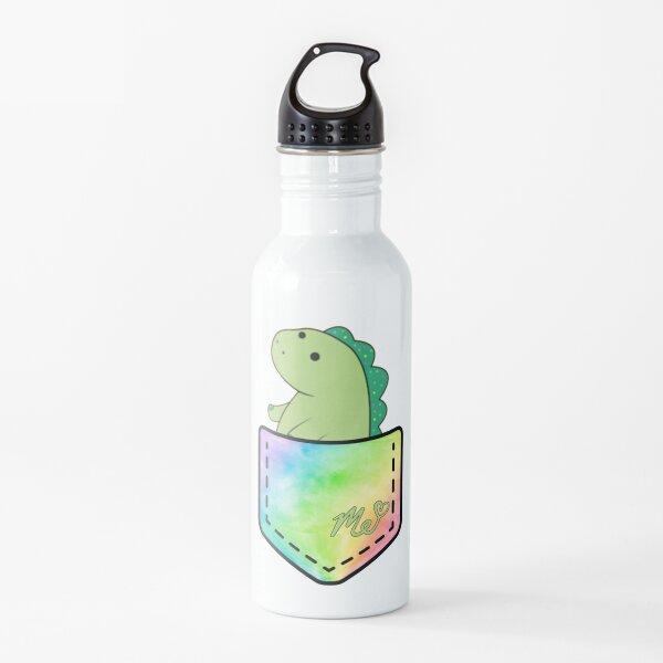 Moriah Elizabeth pickle the dinosaur inside pocket cute rainbow Water Bottle