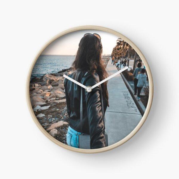 Sunset Seekers Clock