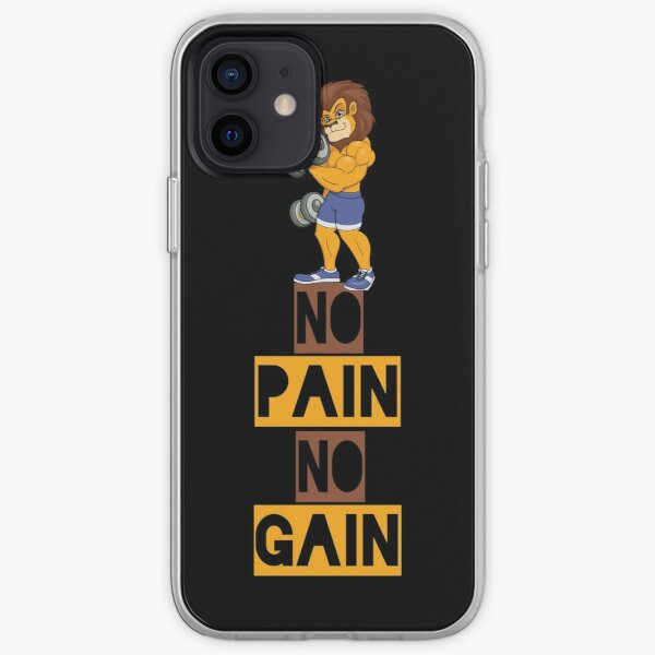No pain no gain proverbial design iPhone Soft Case