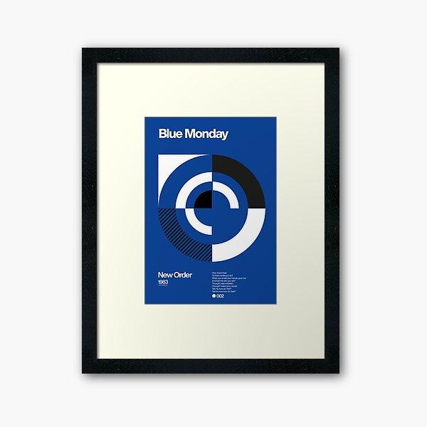 Blue Monday - New Order Typographic Poster Framed Art Print