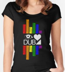 Dubstep Love Women's Fitted Scoop T-Shirt