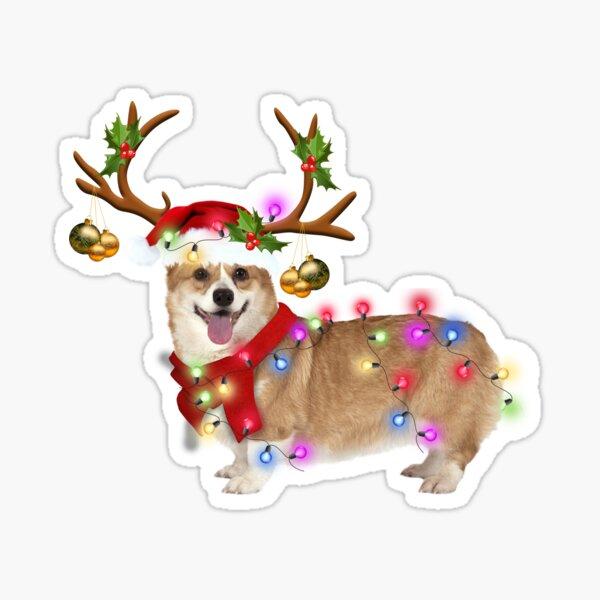 CORGI DOG LOVERS MERRY CHRISTMAS GIFT Sticker