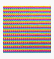 Bright Hue Wave Pattern Photographic Print