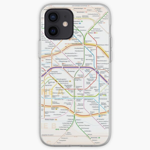 New Berlin rapid transit route map (October 31, 2020) iPhone Soft Case