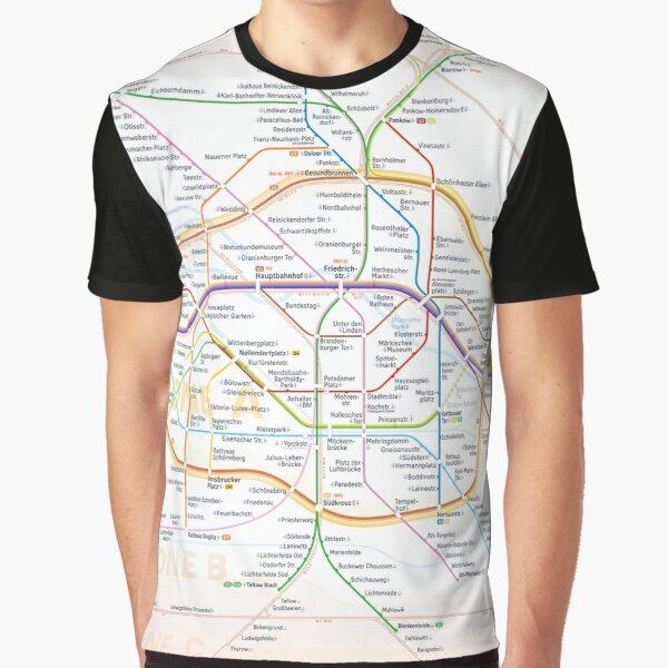 New Berlin rapid transit route map (October 31, 2020) Graphic T-Shirt