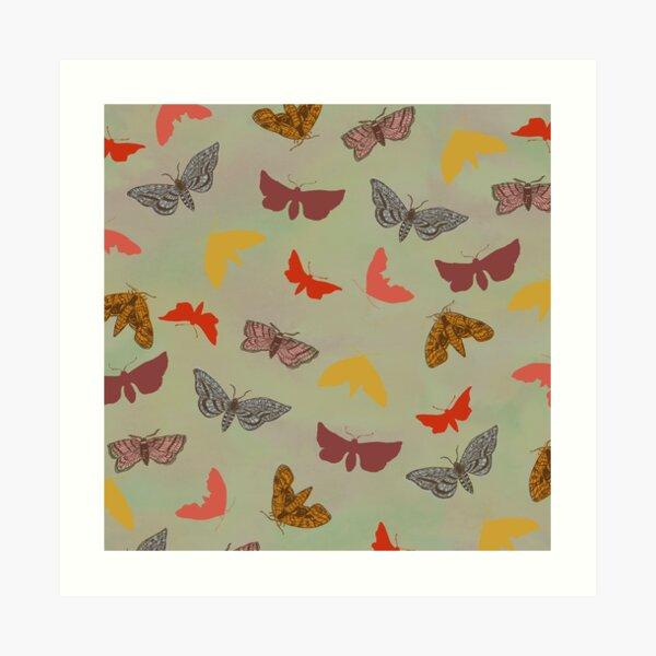 Vintage Butterflies & Moths Art Print