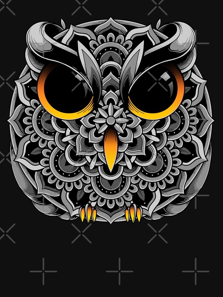Owl Mandala by GODZILLARGE