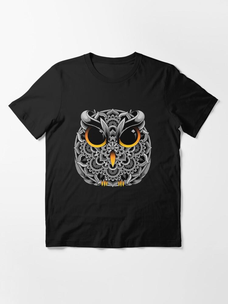 Alternate view of Owl Mandala Essential T-Shirt