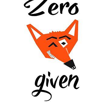 Zero Fox Given by barrelroll1