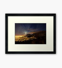 Table Mountain at Night Framed Print