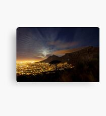 Table Mountain at Night Canvas Print