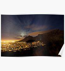Table Mountain at Night Poster