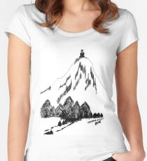 Desolation Peak_Alone Time Women's Fitted Scoop T-Shirt