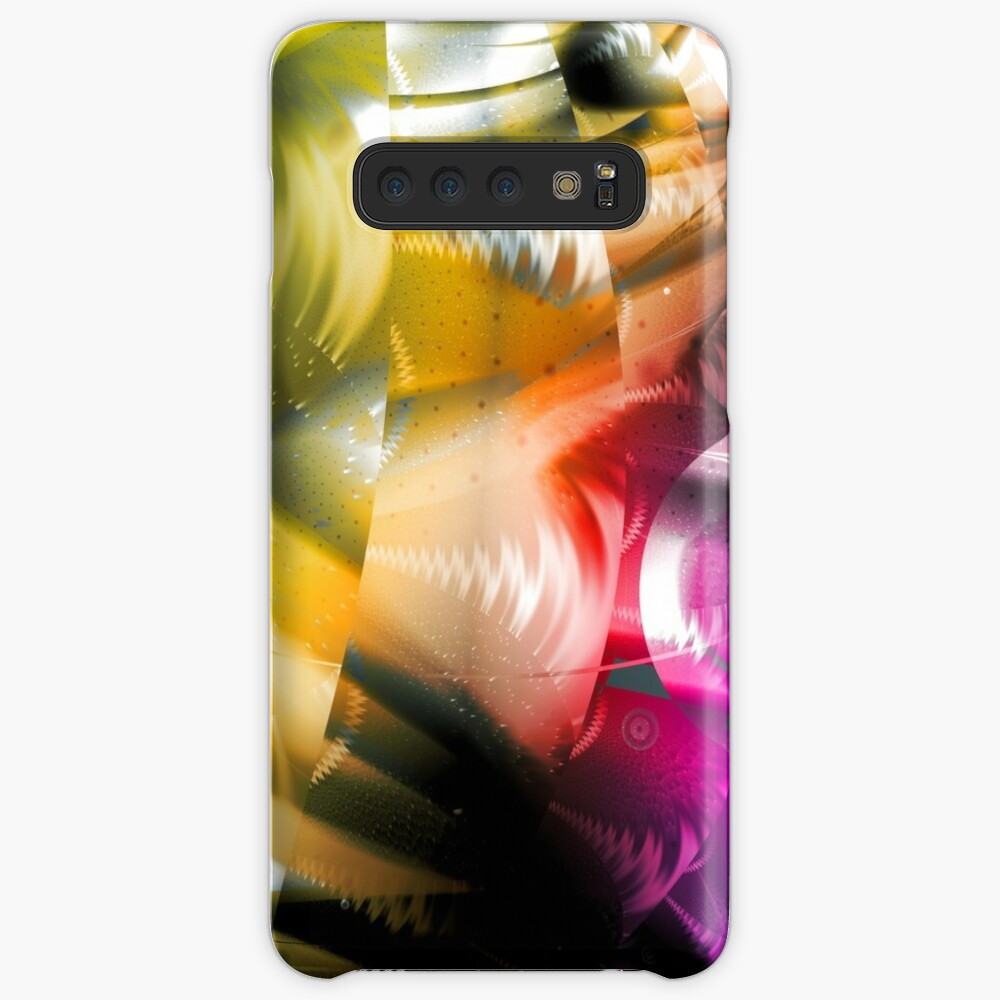 Yellow Machinery Abstract Art Case & Skin for Samsung Galaxy