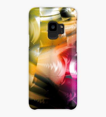 Yellow Machinery Abstract Art Case/Skin for Samsung Galaxy