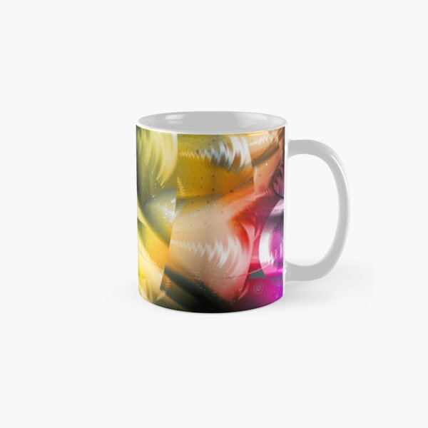 Yellow Machinery Abstract Art Classic Mug