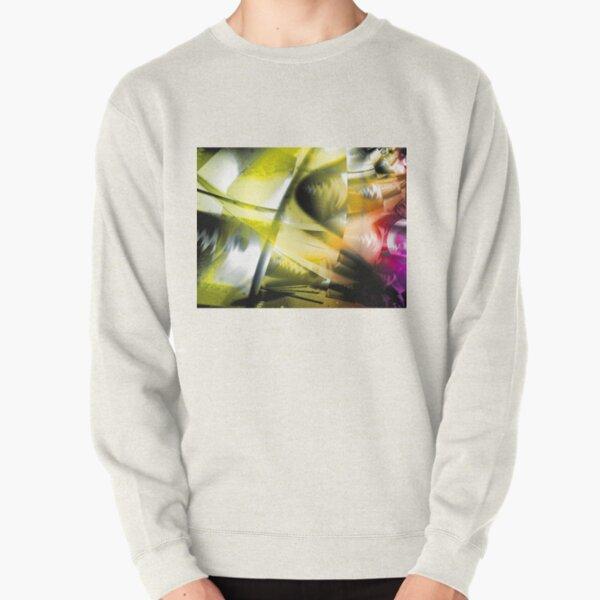 Yellow Machinery Abstract Art Pullover Sweatshirt