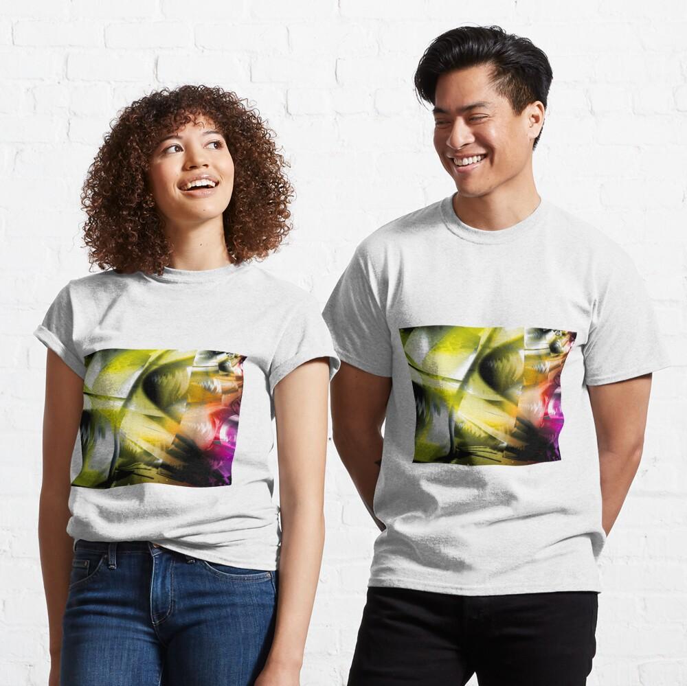 Yellow Machinery Abstract Art Classic T-Shirt
