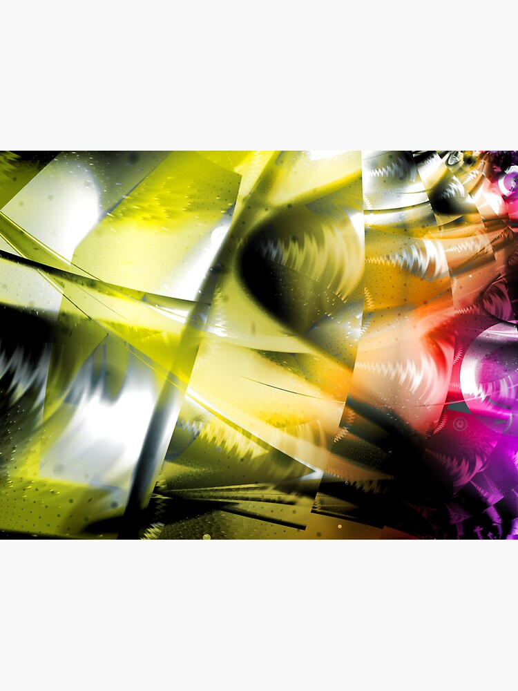 Yellow Machinery Abstract Art by garretbohl